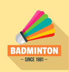 badminton logo flat style vector image
