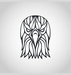 Bald eagle logo icon design vector