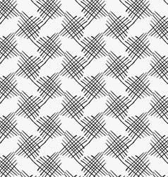 Black marker crossed hatches vector image