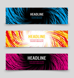 business banners template with colorful spirals vector image