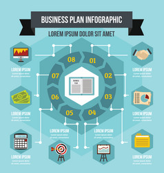 Business infographic concept flat style vector