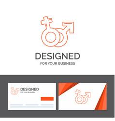 business logo template for gender venus mars male vector image