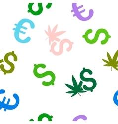 Cannabis Business Seamless Flat Pattern vector