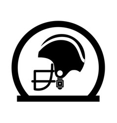Circular frame with side view american football vector