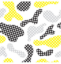 color seamless pattern modern bold camouflage vector image