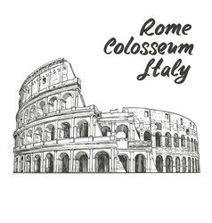 Colosseum an ancient amphitheatre an vector