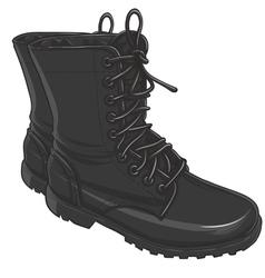 Combat boot vector