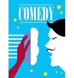 Comedy cinema poster vector
