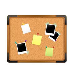 Cork notice board vector