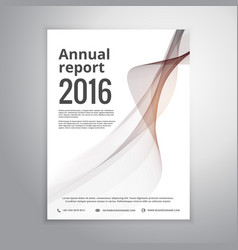 Corporate annual report brochure identity vector