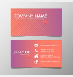 creative design modern of business card vector image