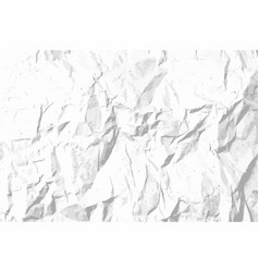 crumpled paper texture template for overlay vector image