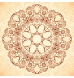 Decorative mandala in Indian mehndi style vector image