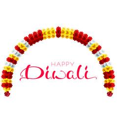diwali festival lights garland flower and vector image