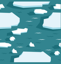 Drift ice sea ice floes seamless pattern wildlife vector