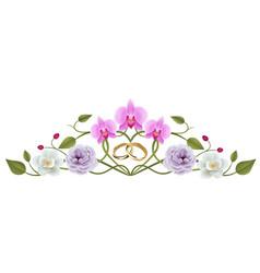 Flowers wedding decoration vector