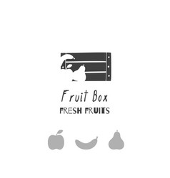 Fruit logo template vector