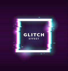 Glitch effect for frame vector