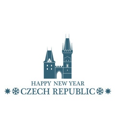 Greeting Card Czech Republic vector image