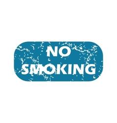 Grunge no smoking icon vector image