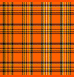 Halloween tartan plaid pattern scottish cage vector