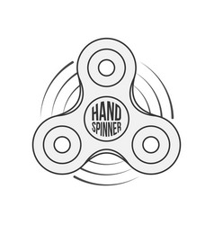 hand spinner badge label or banner template vector image
