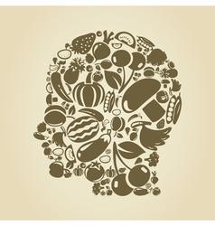 Head food2 vector image