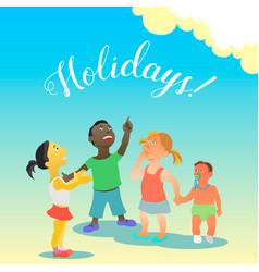 Holidays vector