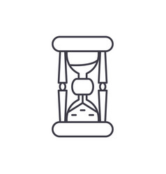 hourglass line icon concept hourglass vector image