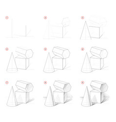 How to draw step-wise sketch still life vector