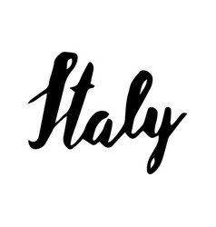 Italy hand lettering isolated on white background vector
