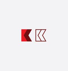K logo sign red element symbol vector
