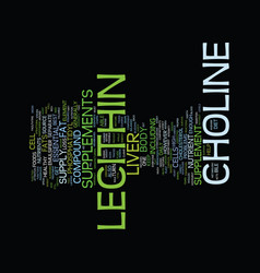Lecithin supplement text background word cloud vector