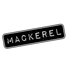 Mackerel rubber stamp vector