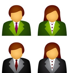 Male female business icons vector