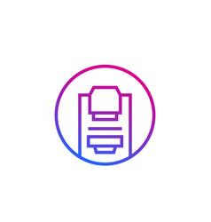 mammography machine line round icon vector image