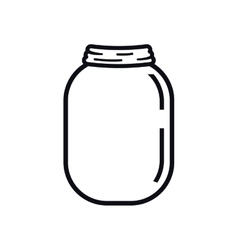 mason jar glass rustic can icon graphic vector image