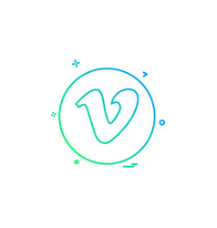 Media network social vimeo png icon design vector