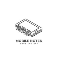 Mobile notes logo vector