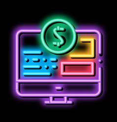 Money web site neon glow icon vector