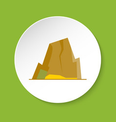 Mountain with ledges icon in flat style vector