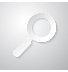 Paper Abstract Magnifying Glass vector