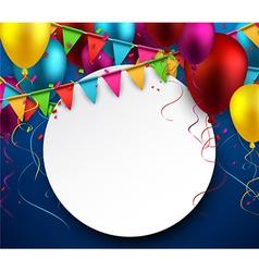 Party celebration background vector image