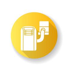 Portable air conditioner yellow flat design long vector