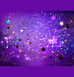 purple background with stars vector image