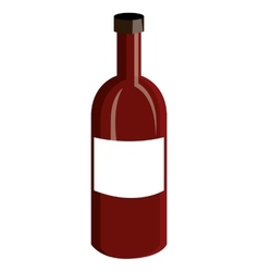 Red liquor bottle graphic vector