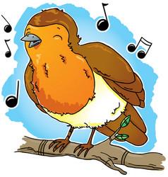 Robin singing vector