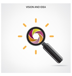 Search and vision symbolbusiness ideas vector