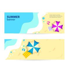 set horizontal banner sunny summer day summertime vector image