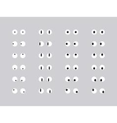 Set of eye emoticon vector